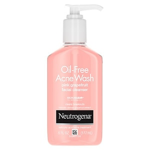 Neutrogena Oil-Free Acne Wash Facial Cleanser, Pink Grapefruit