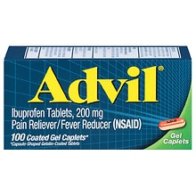 Advil Pain Reliever/Fever Reducer Coated Gel Caplets