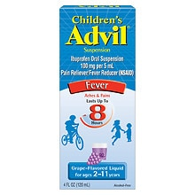 Children's Advil Ibuprofen Oral Suspension Grape