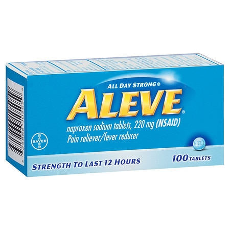 Aleve Pain Reliever/Fever Reducer 220 mg Tablets