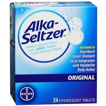 Alka-Seltzer Antacid & Analgesic Effervescent Tablets