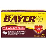 Genuine Bayer Aspirin Pain Reliever, 325mg Tablets, Easy Open Cap