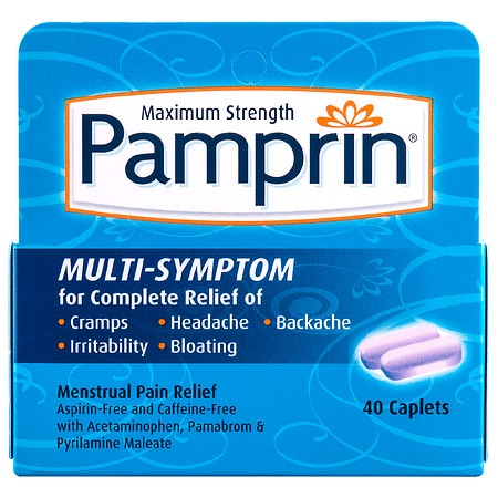Pamprin Maximum Strength Multi-Symptom Menstrual Pain Relief Caplets