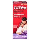 Children's TYLENOL Acetaminophen Oral Suspension Pain Reliever - Fever Reducer, Ages 2-11 Grape Splash