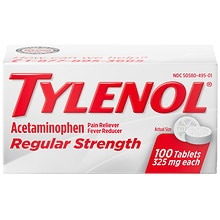 Tylenol Regular Strength Regular Strength Pain Reliever Fever Reducer Tablets