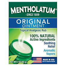 Mentholatum Ointment/Topical Analgesic/Aromatic Vapors