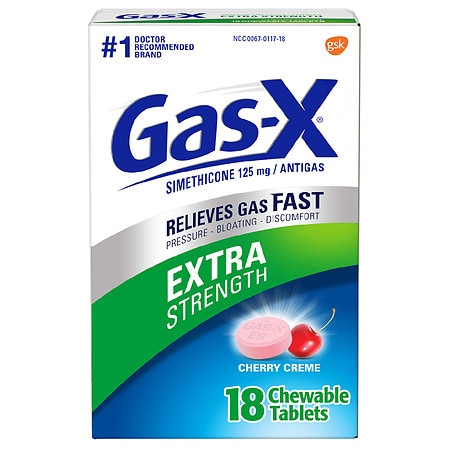 Gas-X Extra Strength Antigas Chewable Tablets Cherry Creme