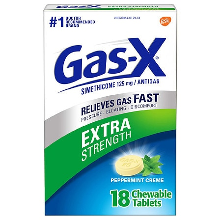 Gas-X Extra Strength Antigas Chewable Tablets Peppermint Creme