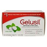 Gelusil Antacid, Anti-Gas Chewable Tablets Peppermint