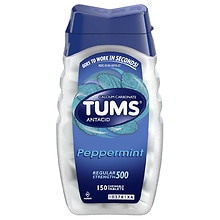 Tums Antacid/Calcium Supplement Peppermint