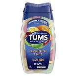 Tums Ultra Antacid and Calcium Supplement Assorted Fruit 72ct