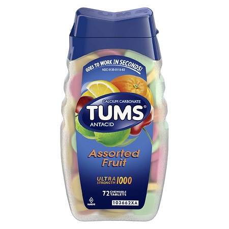 Tums Ultra Antacid and Calcium Supplement Assorted Fruit Fruit