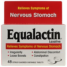 Equalactin Laxative Chewable Tablets, Relieves Symptoms of Nervous Stomach Citrus