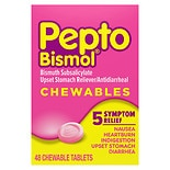 Pepto-Bismol Upset Stomach Reliever/Antidiarrheal Chewable Tablets Original