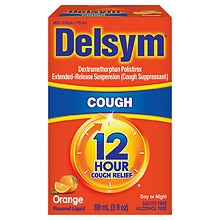 Delsym 12 Hour Cough Suppressant Liquid Orange