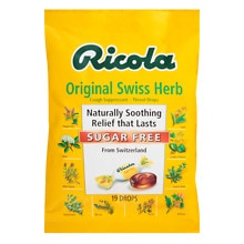 Ricola Cough Suppressant Throat Drops Sugar Free Original Swiss Herb