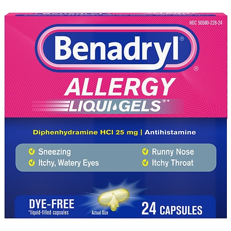 benadryl gel caps