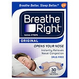 Breathe Right Nasal Strips, Large Tan
