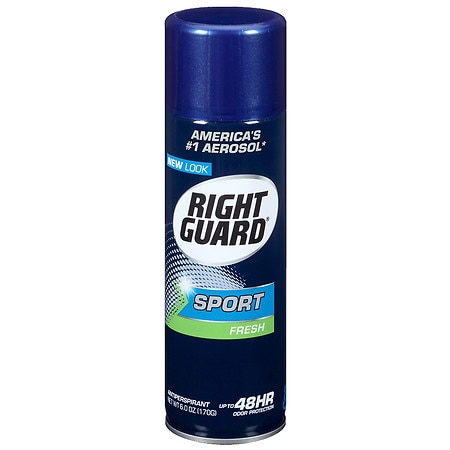 Right Guard Sport 3-D Odor Defense, Antiperspirant & Deodorant Aerosol Spray Fresh