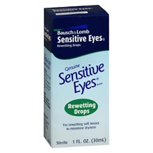 Sensitive Eyes Drops for Rewetting Soft Lenses to Minimize Dryness
