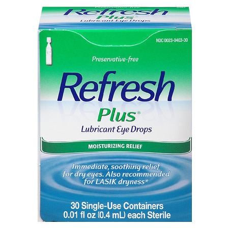 Refresh Plus Lubricant Eye Drops Single Use Containers