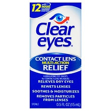 Clear eyes CLR Contact Lens Lubricating Eye Drops