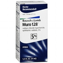 Muro 128 Sodium Chloride Hypertonicity Ophthalmic Solution 5% Drops