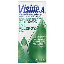 Visine-A Eye Allergy Relief, Antihistamine & Redness Reliever, Drops