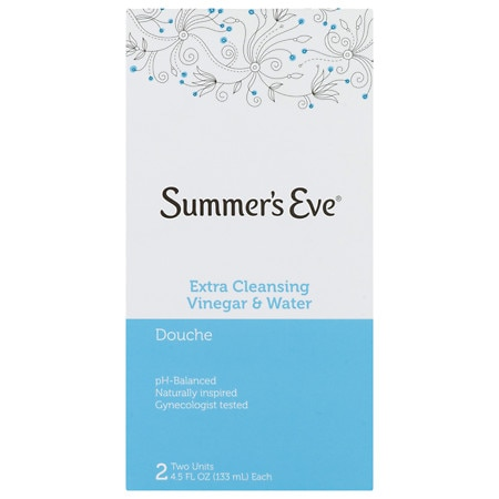 Summer's Eve Douche, Extra Cleansing Vinegar & Water, Twin Pack