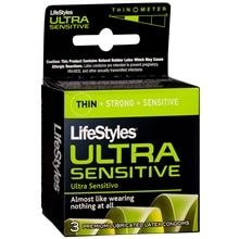 LifeStyles Ultra Sensitive Premium Lubricated Latex Condoms