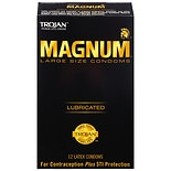Trojan Magnum Large Size Lubricated Premium Latex Condoms