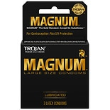 Trojan Magnum Lubricated Premium Latex Condoms
