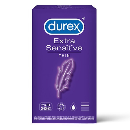 Durex Extra Sensitive Ultra Thin Premium Lubricated Latex Condoms