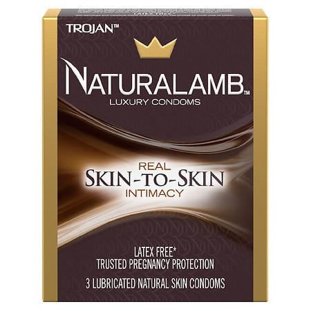 Trojan Naturalamb Lubricated Natural Skin Luxury Condoms
