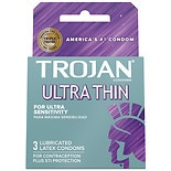 Trojan Sensitivity Ultra Thin Lubricated Premium Latex Condoms