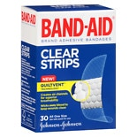 Band-Aid Clear Strips Adhesive Bandages One Size