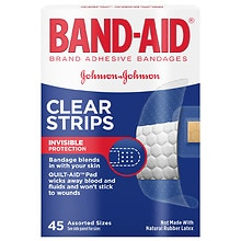 Band-Aid Clear Brand Adhesive Bandages Clear Strips