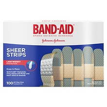 Band-Aid Sheer Sheer Strips Adhesive Bandages Regular