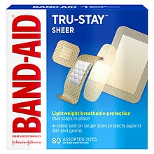 Band-Aid Sheer Comfort Sheer Adhesive Bandages, Assorted Sizes
