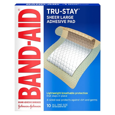 Band-Aid Adhesive Pads Comfort Flex Adhesive Pads Large