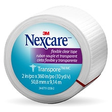 Nexcare First Aid Transpore Tape clear 2 in. x 360 in.