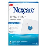 Nexcare Tegaderm Waterproof Transparent Dressing 4 in x 4-3/4 in