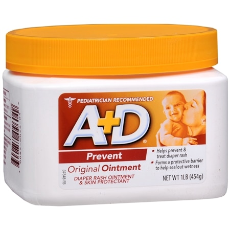 A+D Original Diaper Rash Ointment & Skin Protectant