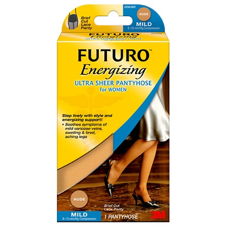 FUTURO Energizing Ultra Sheer Pantyhose for Women, Mild Plus