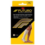 FUTURO Therapeutic Firm Open Toe/Heel Knee Length Stocking Large L Beige