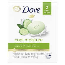 Go Fresh Cool Moisture Beauty Bar 2 PackCucumber & Green Tea