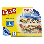 Glad Food Storage Containers, Deep Dish 64 oz