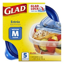 Gladware Food Storage Containers, Entree 25 oz