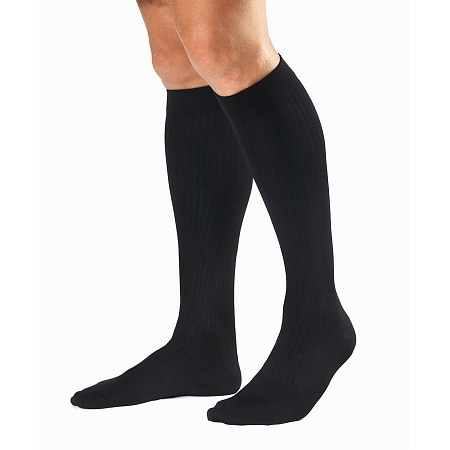 Jobst SupportWear Men's Dress Knee High Socks Black
