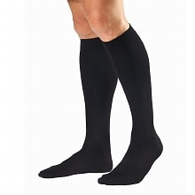SupportWear Men's  Black Mild Compression Therapeutic Support Knee High Dress SoMedium, Black